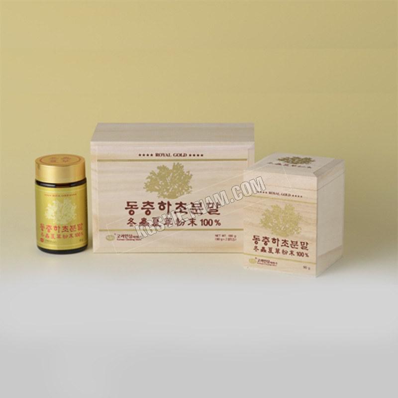 Bột Đông Trùng Hạ Thảo KGS Hàn Quốc 90g x 2 lọđông trùng hạ thảo KGS Hàn Quốc 100g x 2 lọ