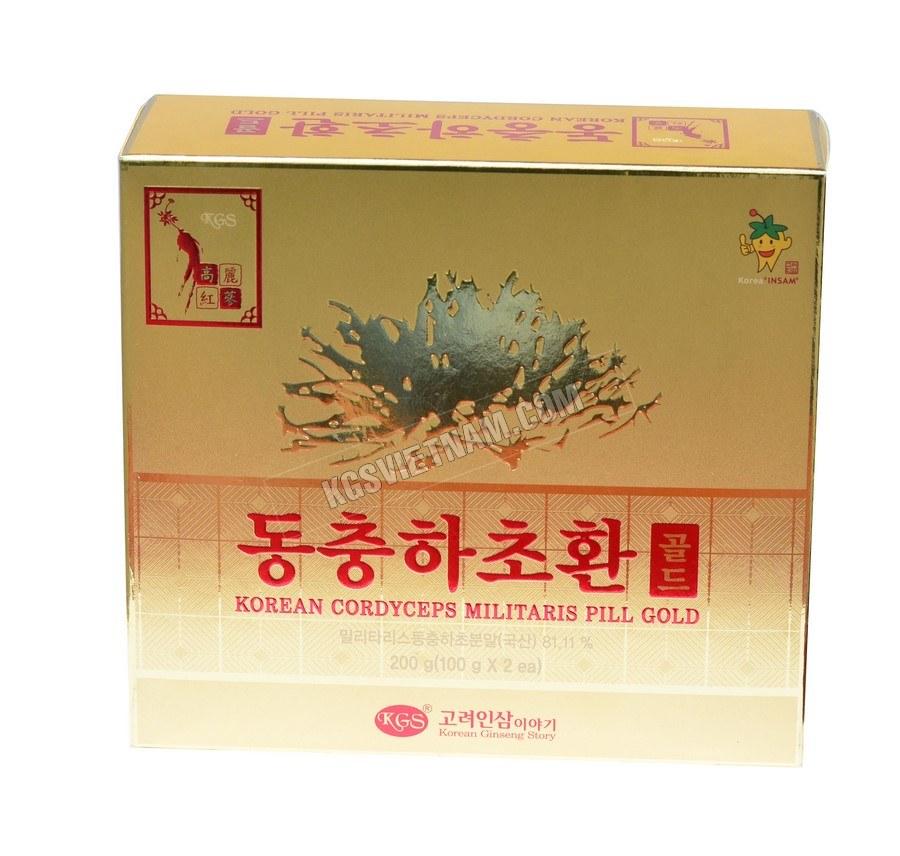 Viên đông trùng hạ thảo KGS Hàn Quốc 100g x 2 lọcủ khô PUNGGI Hàn Quốc 150g (Củ Lớn)
