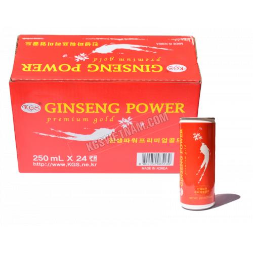 Nước hồng sâm KGS Ginseng Power Hàn Quốc 24 lon