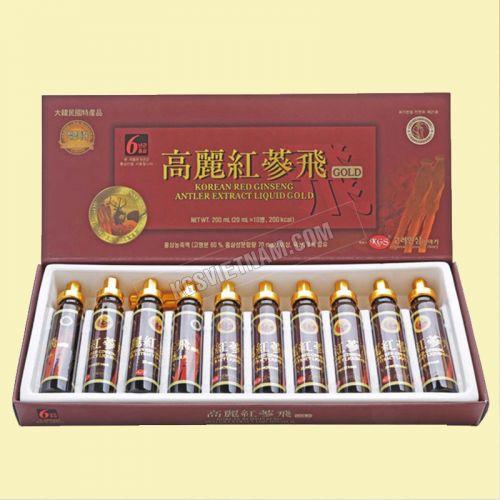 Chiết xuất Hồng Sâm Nhung Hươu KGS 10 ống